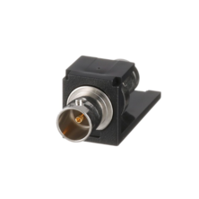 PANDUIT SINGLE MINI-COM 75 OHM BNC COAX COUPLER. BLACK